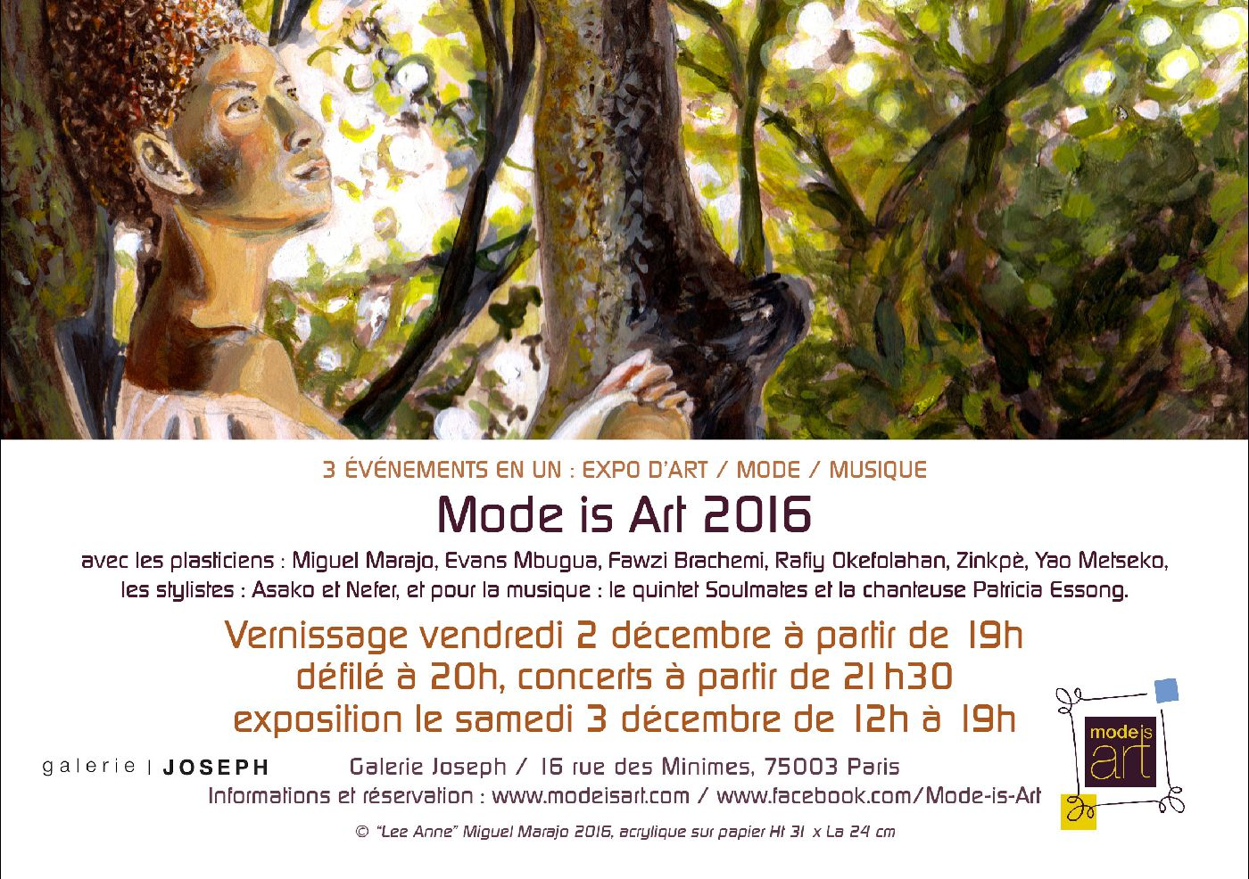 Miguel Marajo participe à Mode is Art 2016 / Paris